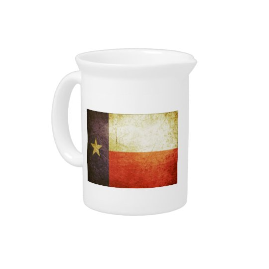 Texas Flag Grunge effect Pitcher