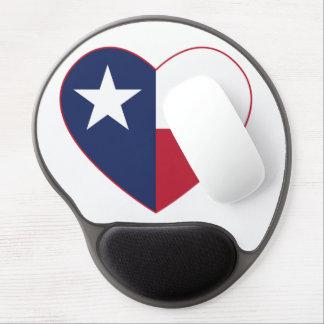Texas Flag Heart Gel Mousepad