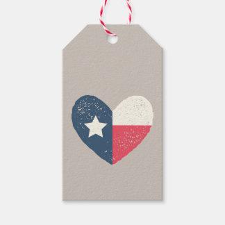 Texas Flag Heart Gift Tags