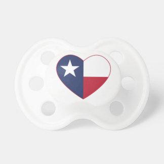 Texas Flag Heart Pacifier