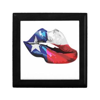 Texas Flag Lips Gift Box