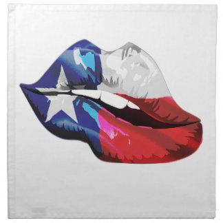 Texas Flag Lips Napkin