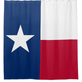 Texas Flag Lone Star State Flag Shower Curtain
