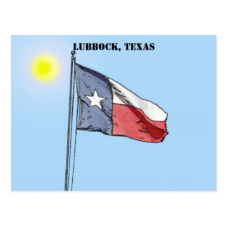 Texas Flag, Lubbock, Texas Postcard