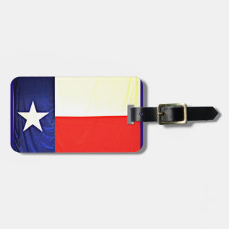 Texas Flag Luggage Tag with Leather Strap