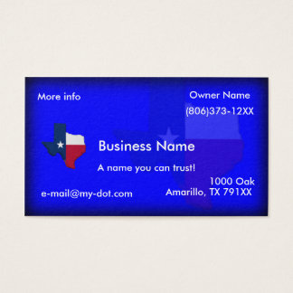 Texas Flag-Map Business Cards