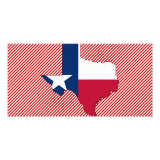 Texas Flag Map Photo Greeting Card