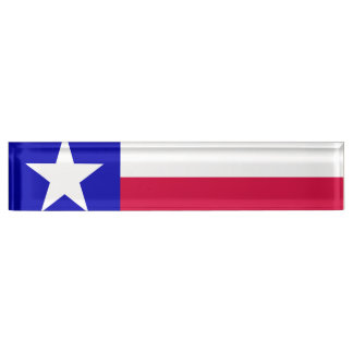 Texas Flag Name Plate