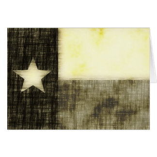 TEXAS FLAG OLD DRAWING CARD
