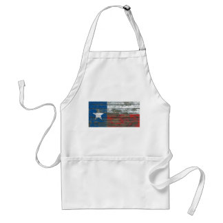 Texas Flag on Rough Wood Boards Effect Standard Apron