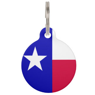 Texas Flag Pet Name Tag