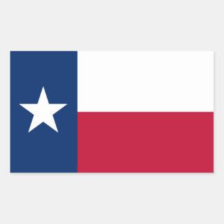 Texas flag rectangular sticker