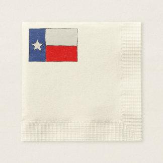 Texas Flag Sketch Disposable Serviette