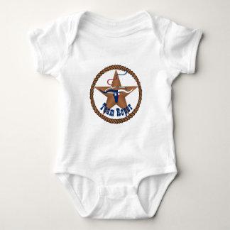 Texas Flag Steer Head With Rope Team Roper Baby Bodysuit