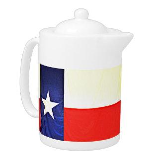 Texas Flag Tea Pot