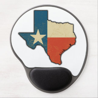 Texas Flag Texas Shaped Gel Mouse Pad