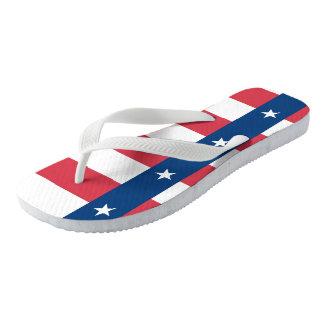 Texas Flag Unisex Flip Flops