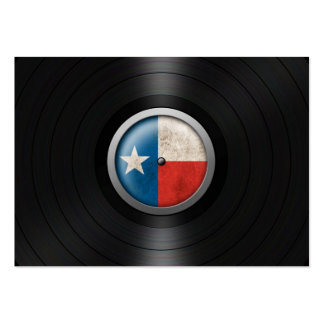Texas Flag Vinyl Record Album Graphic Business Card Template