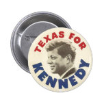 Texas for Kennedy black humour button