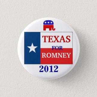 Texas  for Romney 2012 3 Cm Round Badge