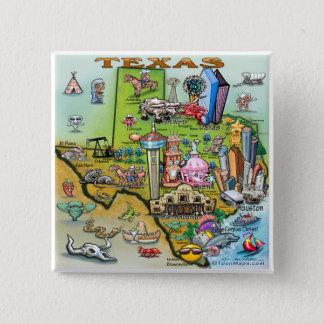 Texas Fun Map 15 Cm Square Badge