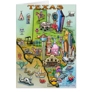 Texas Fun Map Card