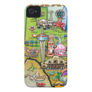 Texas Fun Map Case-Mate iPhone 4 Case