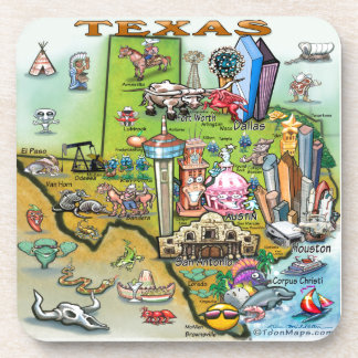 Texas Fun Map Coaster