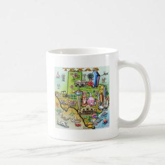 Texas Fun Map Coffee Mug