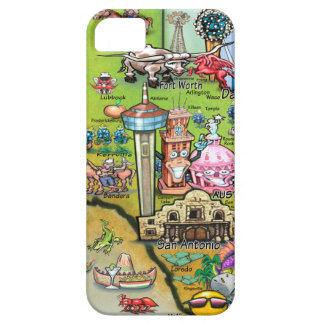 Texas Fun Map iPhone 5 Cover