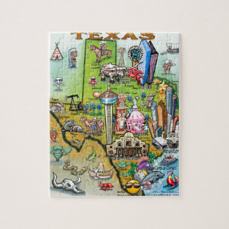 Texas Fun Map Jigsaw Puzzle