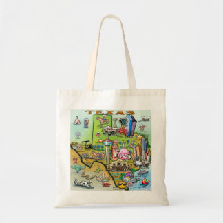 Texas Fun Map Tote Bag