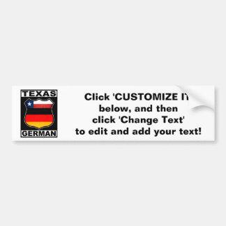 Texas German American Bumper Sticker