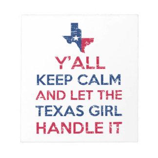 Texas Girl Tees Notepad
