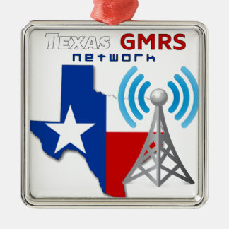 Texas GMRS Network Metal Ornament