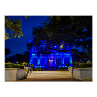 Texas Governor's Mansion Back the Blue Poster