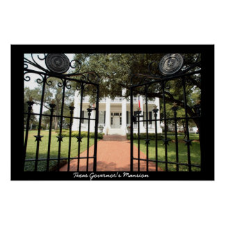 Texas Governor's Mansion Poster