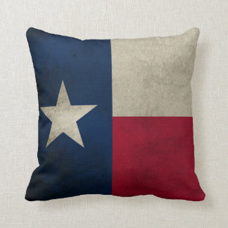 Texas Grunge- Lone Star Flag Throw Pillow