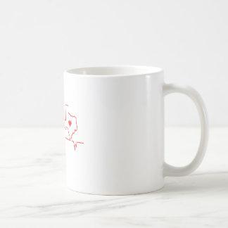 Texas Heart beat Coffee Mug