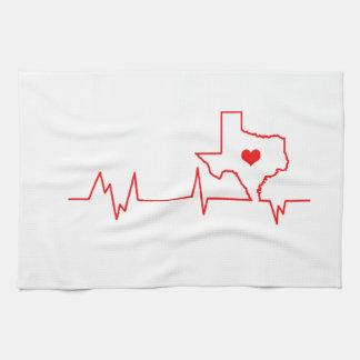 Texas Heart beat Hand Towel