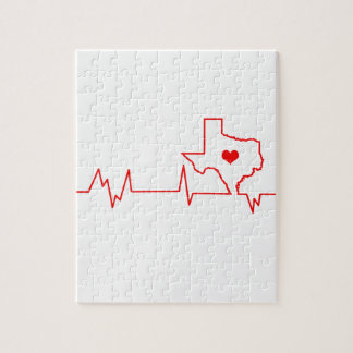 Texas Heart beat Jigsaw Puzzle