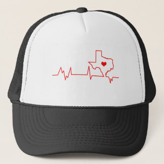 Texas Heart beat Trucker Hat