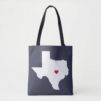 Texas Heart Custom City Tote Bag