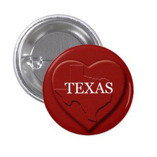 Texas Heart Map Design Button