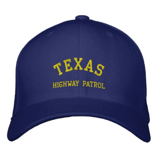 TEXAS, HIGHWAY PATROL EMBROIDERED HAT