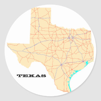 Texas Highways Map Stickers