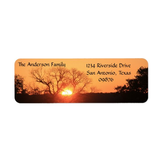Texas Hill Country Sunrise, Return Address Labels