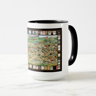 Texas Hill Country Wineries Map Mug