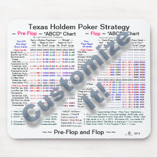 """Texas Holdem """"Flops"""" Poker Strategy Mouse Pad"""
