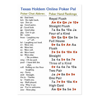 Texas Holdem Online Poker Pal Pack Of Chubby Business Cards